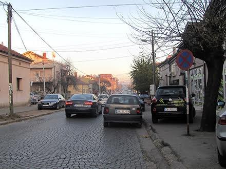 Borina ulica danas, pre bulevara Foto D. Ristić