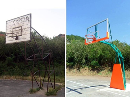 Renovirani košarkaški teren sredstvima DOF-a. Foto: FB fondacija