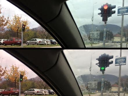 Crveno i zeleno, istovremeno FOTO Amaterski snimak