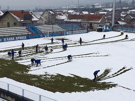 Surduličani imali problema zbog snega.
