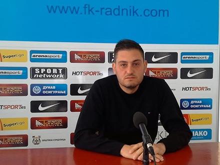 Nikola Stanković očekuje dobar rezultat za Radnik. Foto: FK Radnik