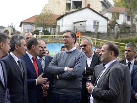 Vučić prilikom prošlogodišnje posete Banji. Foto: sns.org.rs