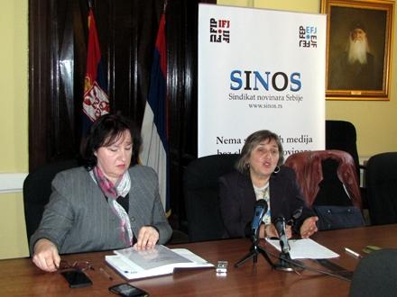 Miroslava Stošić i Dragana Čabarkapa, predstavnice SINOS-a FOTO: D. Ristić/OK radio