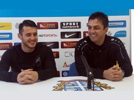 Nikola Radović i Simo Krunić oprezni optimisti FOTO: FK Radnik