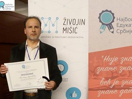 Učitelj Dejanović. Foto: FB