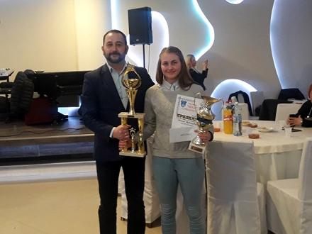 Ivana Davidović, najbolja sportistkinja Vranja u 2017. godini FOTO: vranje.org.rs