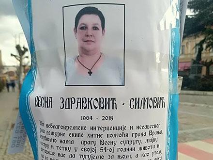 Umrlica o Vesninoj smrti i vremenu sahrane. Foto: S.Tasić/OK Radio