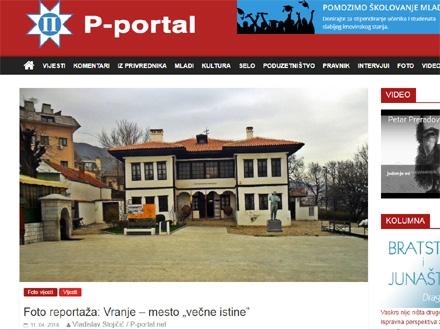 """Vranje – mesto """"večne istine"""" FOTO: P-portal/screenshot"""