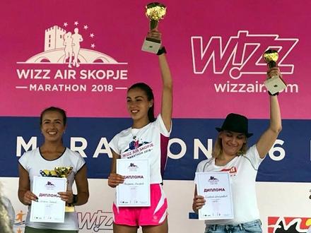 Miljana na pobedničkom postolju FOTO: Facebook
