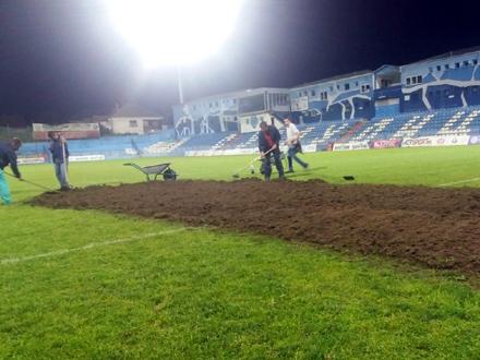 Noćni radovi na terenu FOTO: FK Radnik