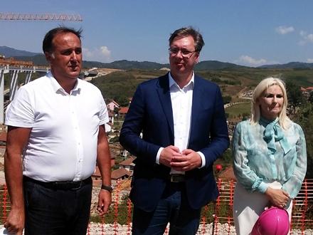 Visoka državna delgacija prilikom ranije posete Koridoru 10. Foto: S.Tasić/OK Radio