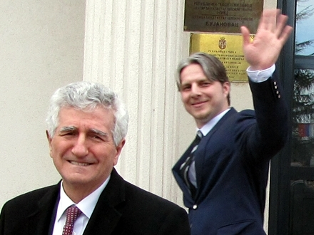 Riza Halimi i Šćiprim Arifi. Foto: S.Tasić/OK Radio