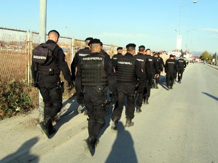 I pripadnici Žandarmerije angažovani na obezbeđenju FOTO: OK Radio