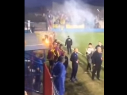 Incidentna situacija u Surdulici FOTO: YouTube/Hot Sport - printscreen
