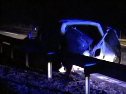 Vozilo potpuno izgorelo FOTO: YouTube/Jugmedia - printscreen