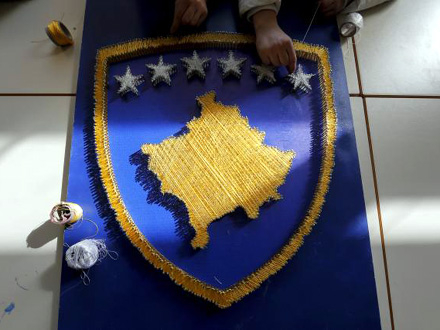 Poruka Albancima na KiM FOTO: EPA