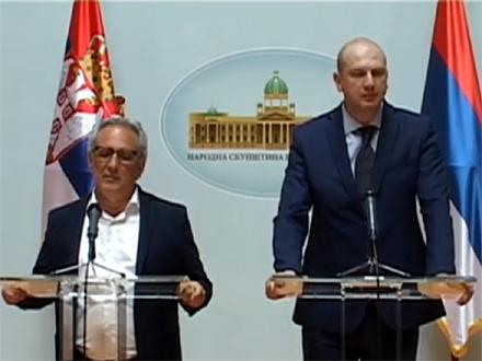 Skanu i Laketić, šefovi italijanske i srpske parlamentarne komisije FOTO: parlament.rs