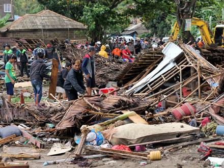 Cunami je odneo stotine zgrada FOTO: AP