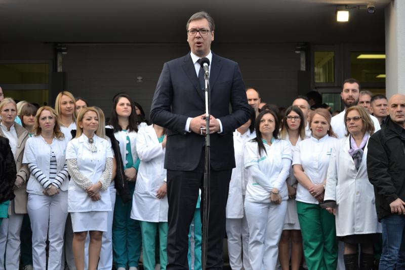 Vučić na otvaranju. Foto: G.Mitić/OK Radio