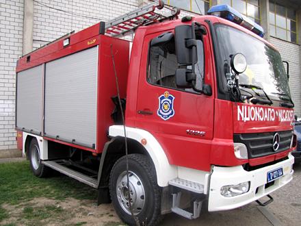 Želela da uđe u vatrogasno vozilo FOTO: OK Radio