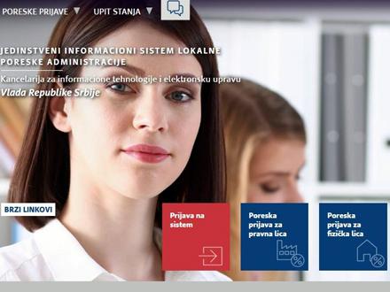 Podai za 145 lokalnih poreskih administracija FOTO: lpa.gov.rs/printscreen