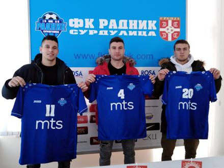 Stamenković, Pajović i Kričak FOTO: FK Radnik