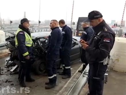 Tri automobila se sudarila FOTO: RTS/printscreen