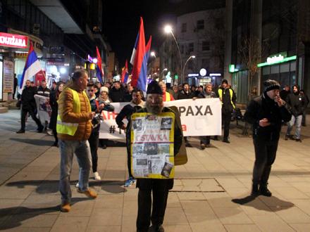 Bubnjevi, transparenti i pištaljke, treći put FOTO: OK Radio