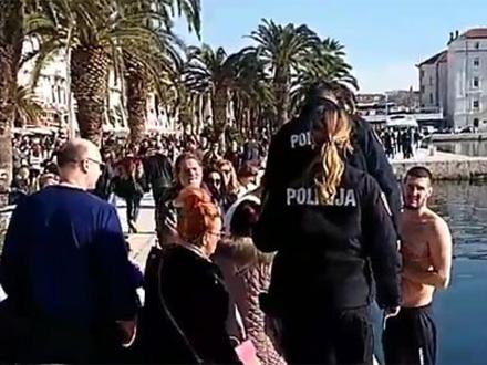 Napad na vaterpoliste Crvene zvezde FOTO: youtube.