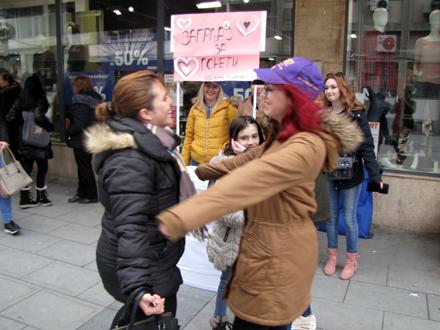 Ljubav u borbi protiv nasilja nad ženama i devojčicama FOTO: D. Ristić/OK Radio