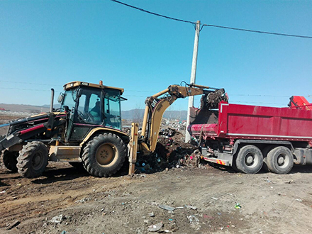 Čišćenje deponije u Pvalovcu. Foto: OK Radio