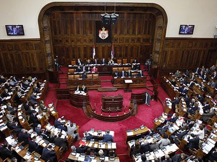 U sali vladajuća većina i radikali FOTO: parlament.org.rs