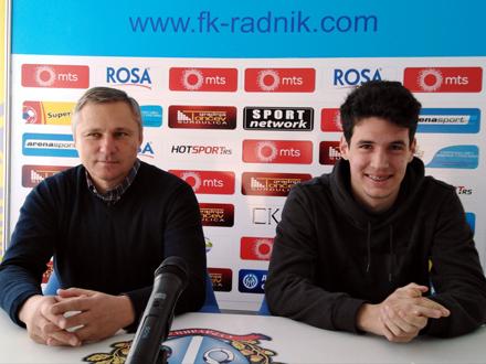 Trener Milan Milanović i Lazar Kojić se nadaju pobedi FOTO: FK Radnik