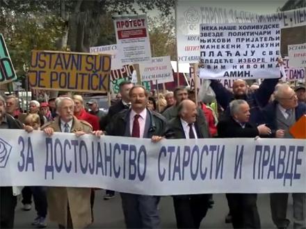 Jedan od ranijih protesta penzionera FOTO: Facebook/Sindikat penzionera