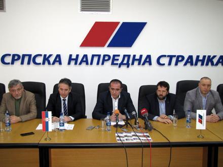 Rukovodstvo GrO SNS u Vranju FOTO: D. Ristić/OK Radio