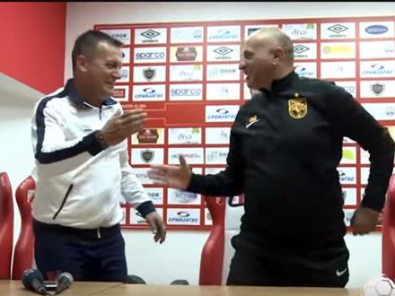 Međusobno poštovanje dva trenera FOTO: YouTube/Super liga Srbije