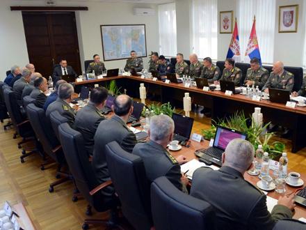 Kolegijum vojnog vrha FOTO: Ministarstvo odbrane