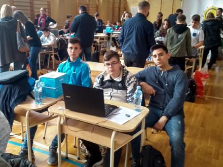 Mateja Janjić, Petar Savić i Ivan Veličković FOTO: OŠ