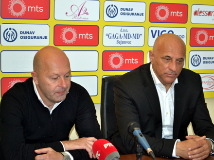 Aničić i Antić zadovoljni atmosferom FOTO: G.Mitić/OK Radio