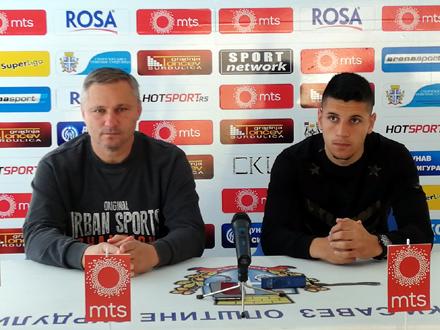 Trener Milanović i golgeter Stamenković FOTO: FK Radnik