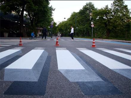 Optička iluzija koja usporava vožnju FOTO: klix.ba/H.M./printscreen