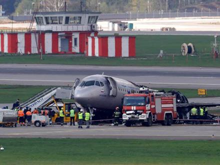 Požar izbio dok je bio u vazduhu FOTO: Reuters