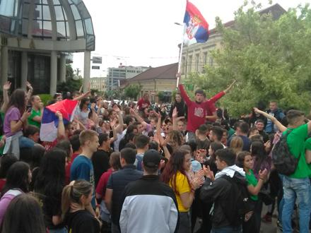 Slavlje uz muziku, zastave i baklje FOTO: G. Mitić