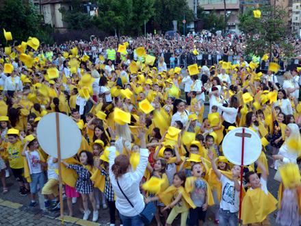Centralna proslava na platou kod Galeriju Nraodnog muzeja. Foto: G.Mitić/OK Radio