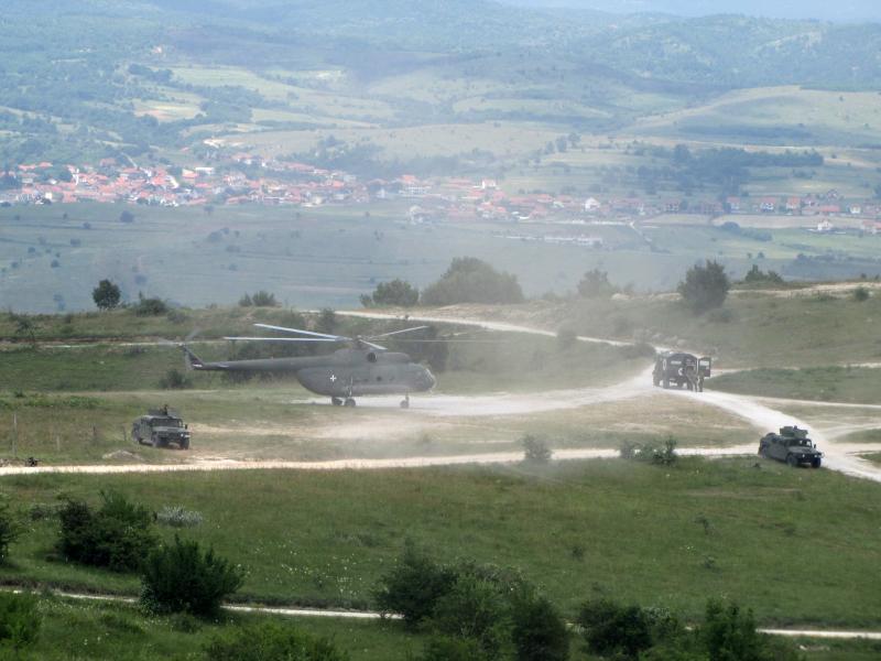 Detalj sa poligona u Borovcu. Foto: S.Tasić/OK Radio