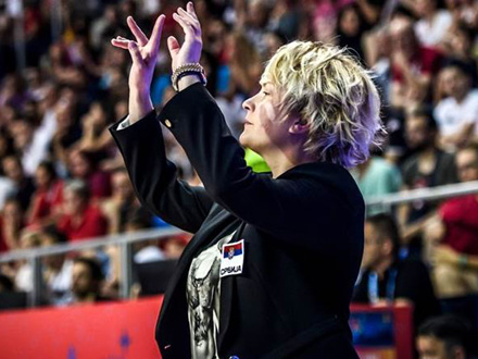 Marina ponosna na svoje igračice FOTO: FIBA