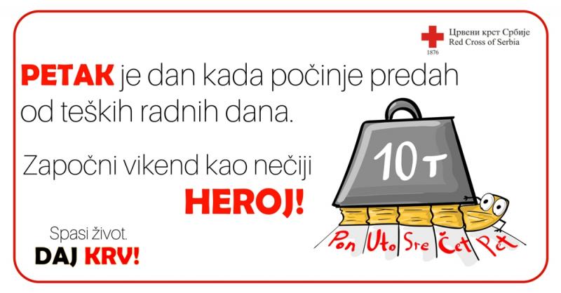 Dajte krv, spasite nečiji život. Foto: Promo