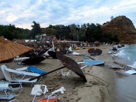 Posledice nevremena na Halkidikiju FOTO: AP