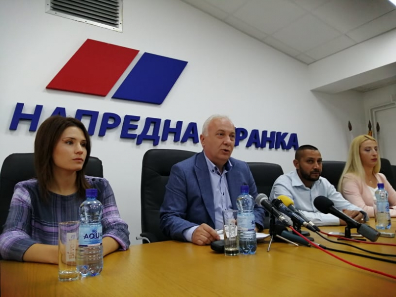 Dimitrijević na konferenciji za medije. Foto: S.Tasić/OK Radio