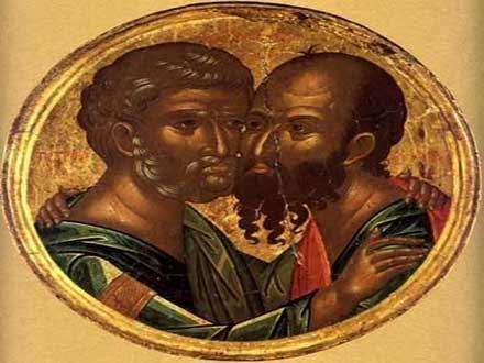 Sveti apostoli Petar i Pavle FOTO: SPC